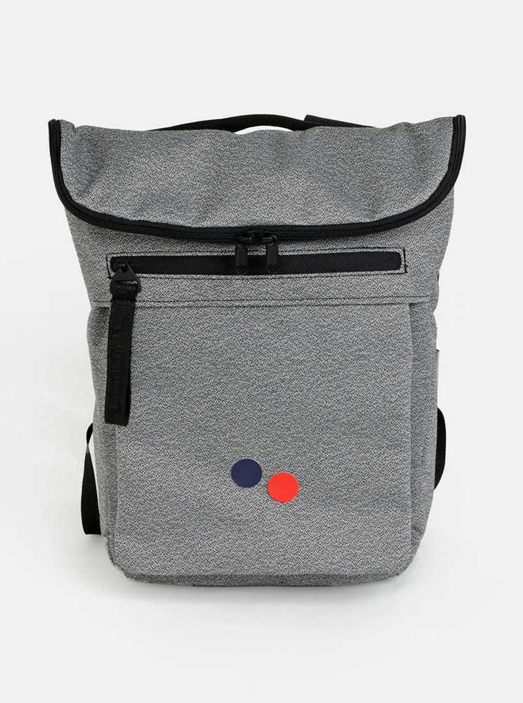 pinqponq Šedý vzorovaný batoh pinqponq Klak 18 l