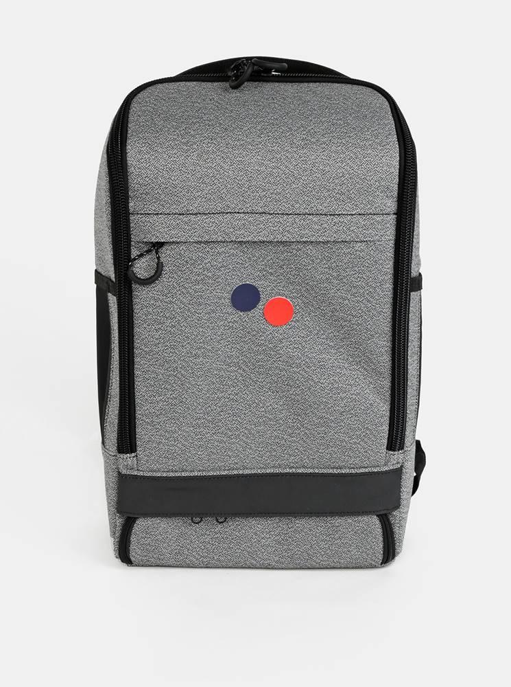 pinqponq Šedý vzorovaný batoh pinqponq Cubik 19 l