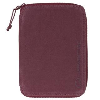 Lifeventure RFiD Mini Travel Wallet Aubergine