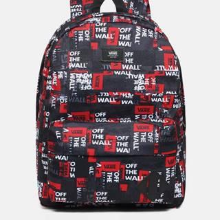 Červeno-čierny vzorovaný batoh VANS 22 l