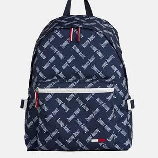 Tmavomodrý vzorovaný batoh Tommy Hilfiger