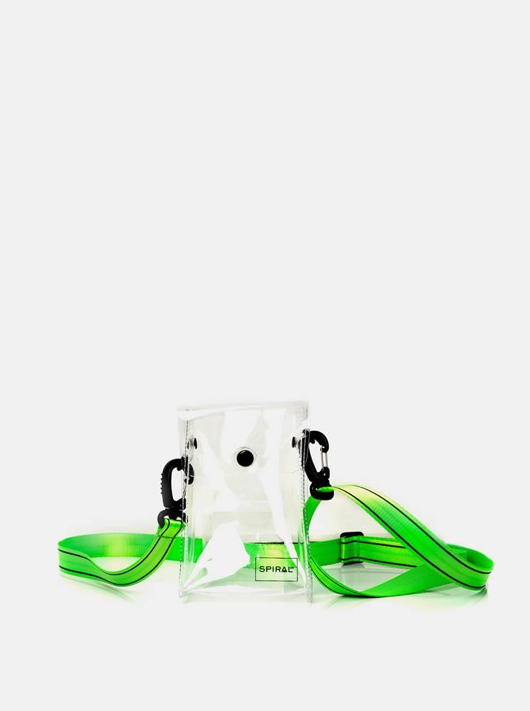 Spiral Zelená transparentná crossbody taška Spiral