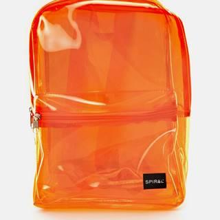 Oranžový transparentný batoh Spiral