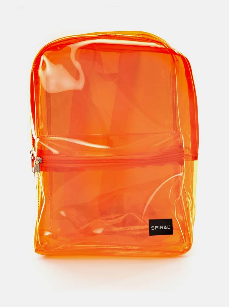 Spiral Oranžový transparentný batoh Spiral