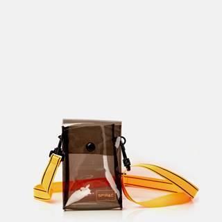 Oranžovo-čierna transparentná crossbody taška Spiral