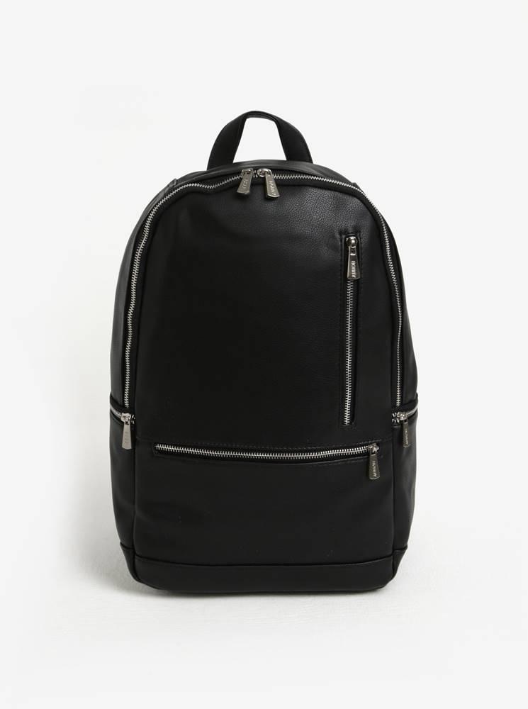 Bobby Black Čierny batoh so zipsami v striebornej farbe Bobby Black