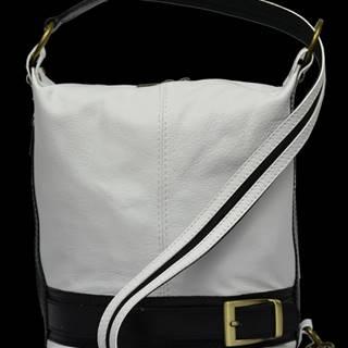 kožená kabelka cez rameno dámska Adele Bianca Nera