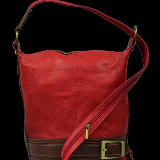 kožená kabelka cez rameno Adele Rossa